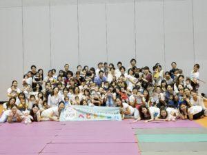 アジア最大級のヨガイベントでベビトレヨガ